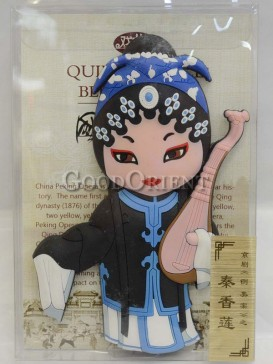 Peking opera figure refrigerator magnets series-Qin Xianglian