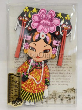 Peking opera figure refrigerator magnets series-Iron Mirror princess