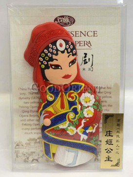 Peking opera figure refrigerator magnets series-Zhuang Ji