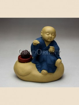 """Tea-tasting monk""tea pet"