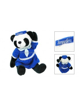 Panda in Blue Dress