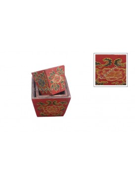 Mini Ancient Red Peony ' Sheng ' Holder Set