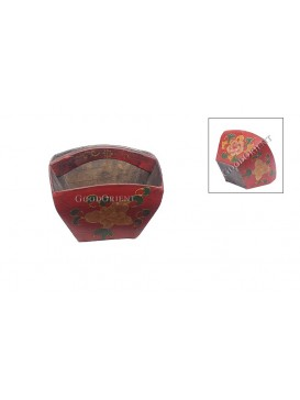 Mini Ancient Red Peony ' Dou ' Holder---Small