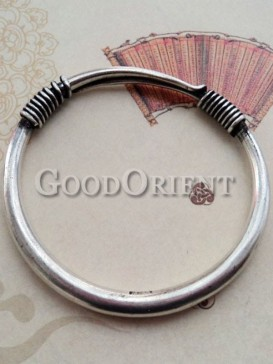 Unique telescopic design silver bracelet