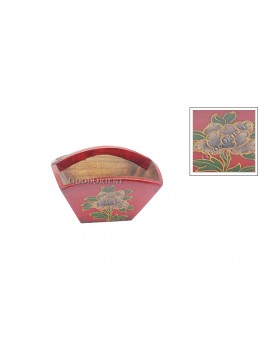 Mini Ancient Red Peony ' Dou ' Holder---Big