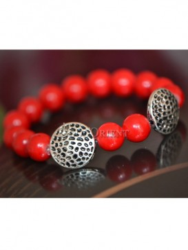 Chinese red bead bracelet