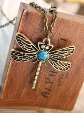 Fashional dragonfly design necklace
