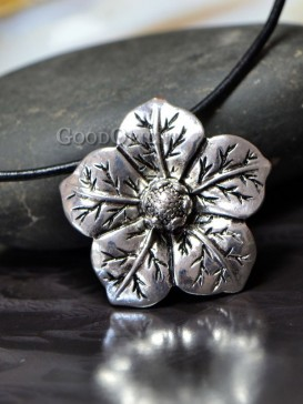 Tibetan style floral silver jewelry