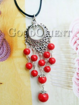 Tibetan style red agate necklace