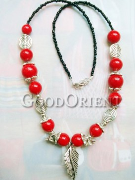 Red agate blessing necklace