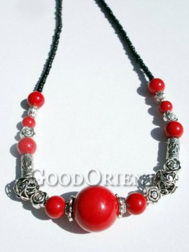 Romantic red agate necklace