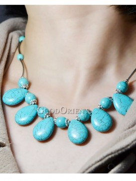 Natural turquoise design necklace
