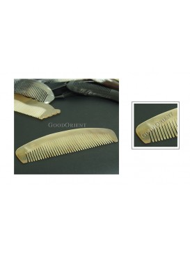 Tibetan Natural Ox Horn Carved Comb Gift---Arc