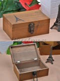 Zakka's style solid wood lock boxes
