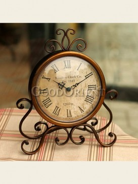 European archaize wrought iron clock