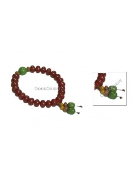 Oriental Protection Pu Ti Root Bracelet---Red