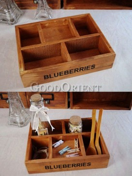 Zakka's style wooden storage box(Five content)