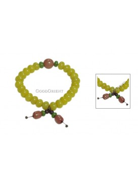 Oriental Protection Pu Ti Root Bracelet---Bright Yellow