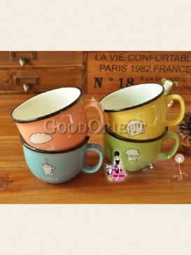 Zakka's style cartoon cup