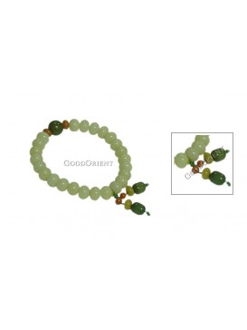 Oriental Protection Pu Ti Root Bracelet--Green
