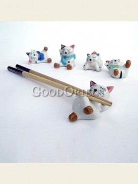 Cute Maneki Neko chopsticks rack