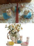 Zakka's cute bunny ceramic chopsticks holder