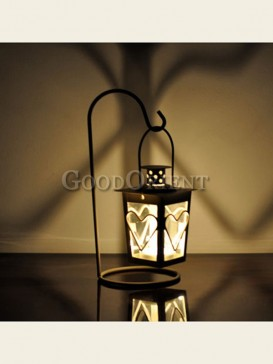 "Exquisite""Love"" storm lantern candlestick"