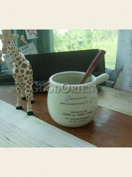 European style ceramic handle milk pot