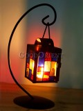 Zakka's romantic colourful wrought iron candlestick