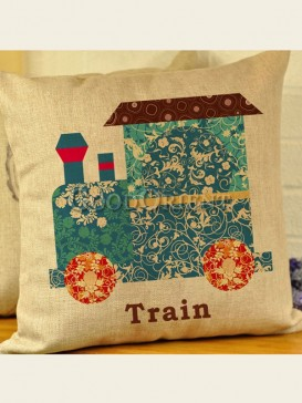 Zakka's vintage style cushion-Train