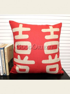 Zakka's vintage style cushion-Double Happiness