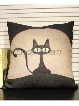 Zakka's vintage style cushion-Cartoon cat