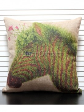 Zakka's vintage style cushion-Colourful Zebra