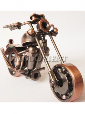 Simulation bronze motorcycle furnishing articles