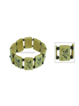 Ox Bone Bracelet--Butterfly