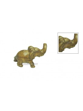 Wonderful Chinese Peach Wood Carving Vivid Elephant Statue