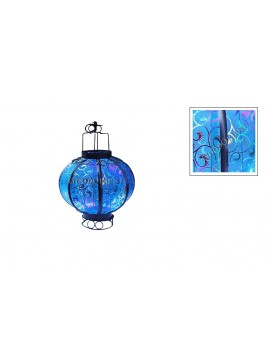 Chinese Vortical Small Candle Gauze Lantern---Blue