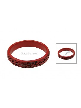 Hand-Carved Cinnabar Bracelet---Good Luck