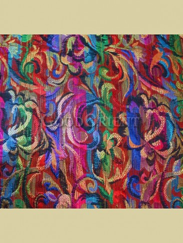 Magnificent penoy pattern brocade fabric