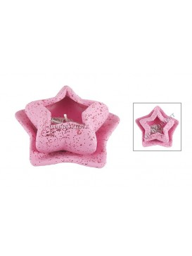 Ceramic Star Candle Holder---Pink