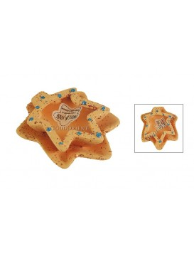 Ceramic Maple Leaf Candle Holder---Orange
