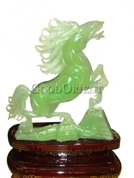 Leaping Horse Jade Statue