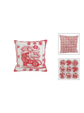 Chinese Batik Fabrics Cushion Cover---Tiger