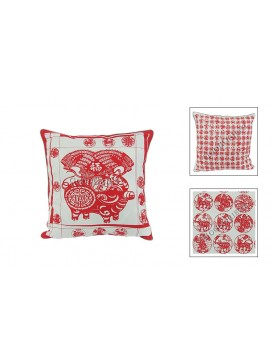 Chinese Batik Fabrics Cushion Cover---Pig