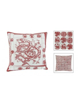 Chinese Batik Fabrics Cushion Cover---Snake