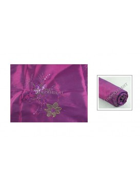 Embroidered Thai Silk Fabric---Mauve