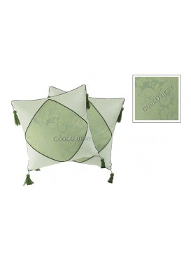 Chinese Calligraphy Linen Cushion Covers Set---Pale Green