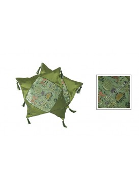 Twin Fishes Cushion Covers Set---Green