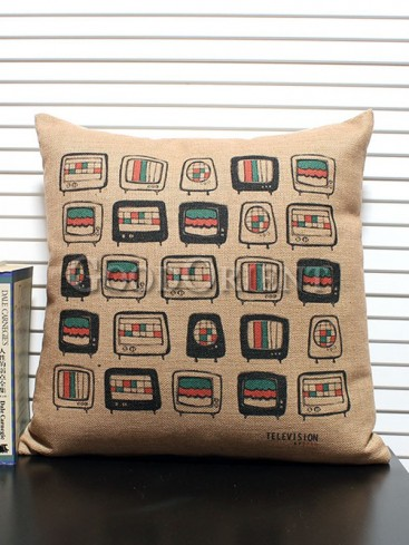 Zakka's vintage style cushion-Abstract TV Set