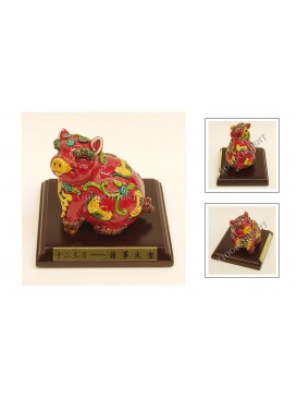 Colorful Red Pig Cochin Ceramics